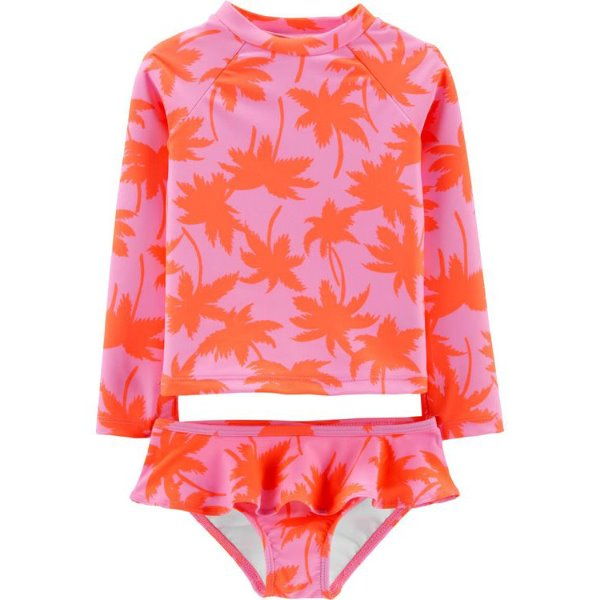 [당일출고] OshKosh Palm Tree Rashguard Set