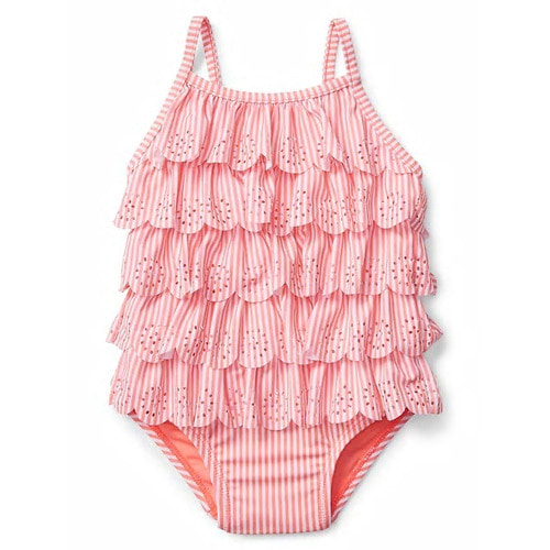 [당일출고] Eyelet Ruffle Swim One-Piece