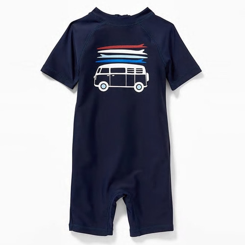 [당일출고] Van-Graphic Rashguard One-Piece for Toddler Boys